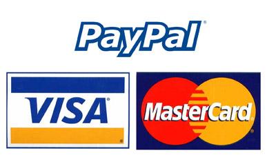 Payment Options - PayPal, Visa, Mastercard