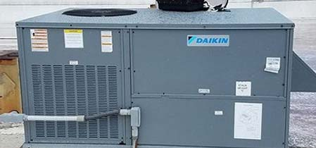 Commercial heating and cooling unit Daikin