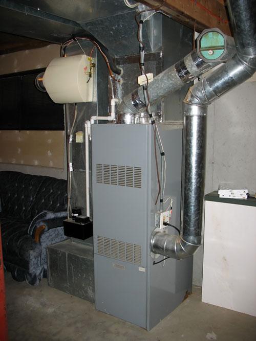 Huge home heating unit installed in basement